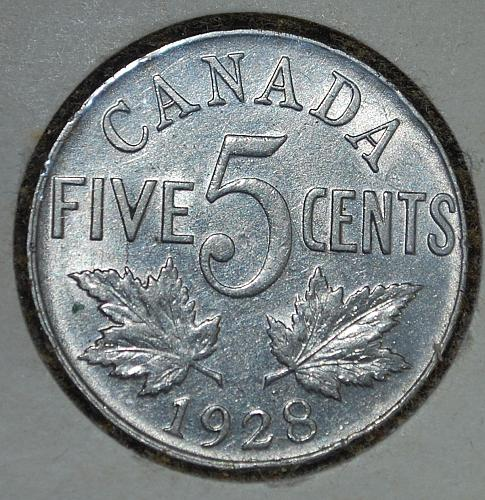 Canada 5 cents 1928