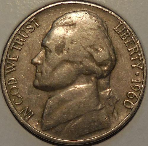 1960-D Jefferson BAR Nickel