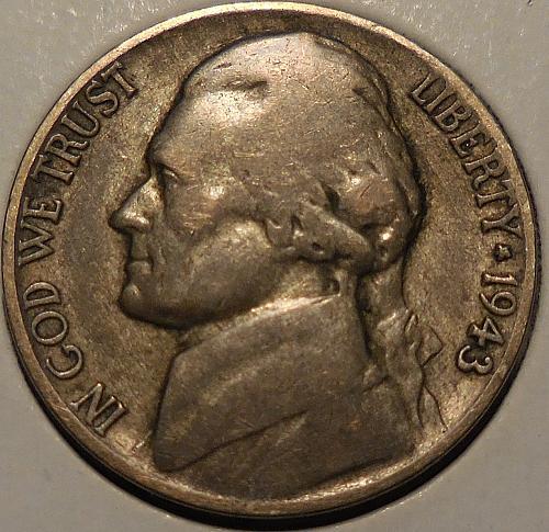 1943-P Jefferson War Nickel 35% Silver