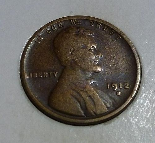 Here is a  VF 1912-S Very Fine Lincoln Wheat Cent  (  H6309 )