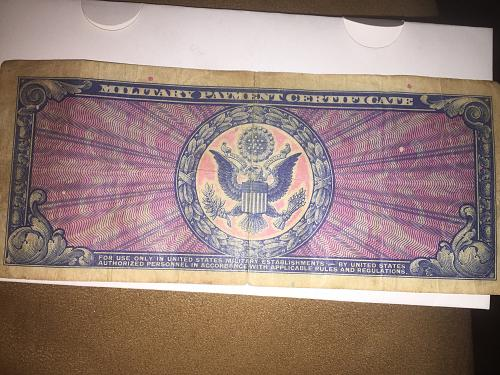$10 Dlls Military payment certificate