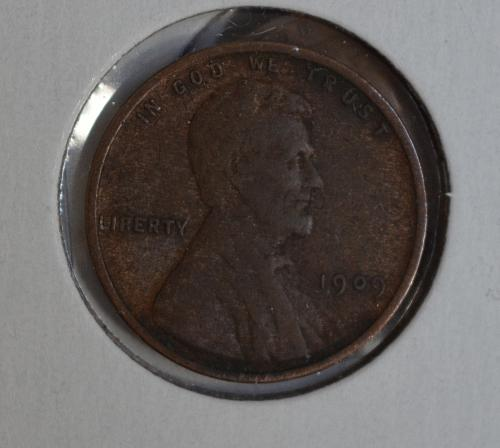 1909 Lincoln Wheat Cent - Low Price