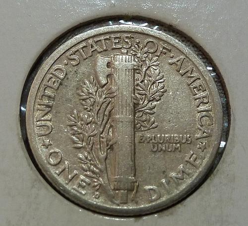 1920-D Extra Fine  Mercury Dime FINE  XF ( 18744-B )