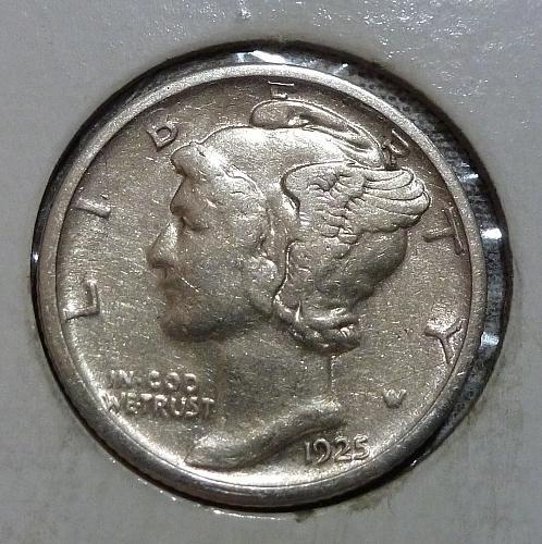 1925-S Extra Fine  Mercury Dime FINE  XF ( 18758-A )
