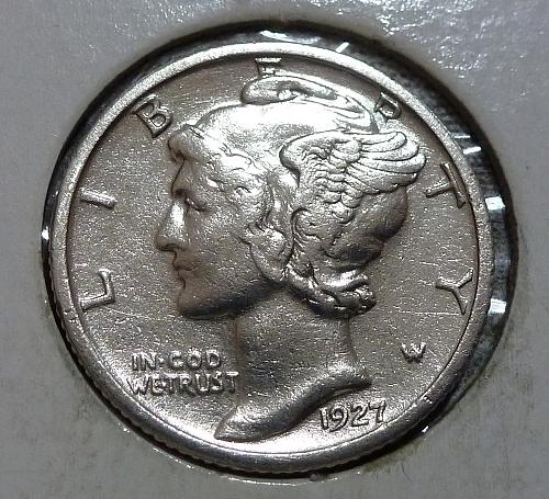 1927-S Uncirculated  Mercury Dime  Unc ( 8010)
