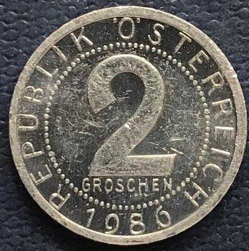 Austria 1986 = 2 Groschen