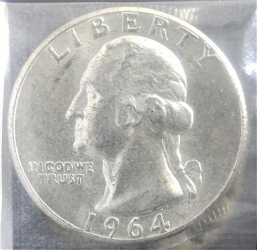 1964-P WASHINGTON QUARTER