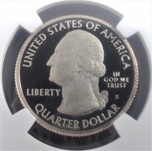BRILLIANT 2012-S SILVER CLAD MAINE, ACADIA IN NGC SLAB