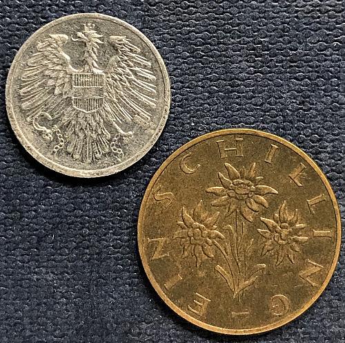 Austria 1978 = 1 Schilling and 2 Groschen