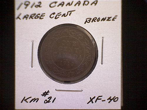 1912 CANADA LARGE CENT KING GEORGE V