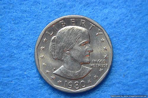 1980 P Susan B Anthony Dollars