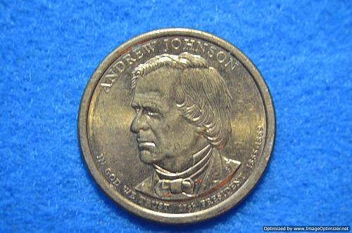 2011 D Presidential Dollars: Andrew Johnson