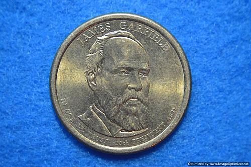 2011 D Presidential Dollars: James A. Garfield
