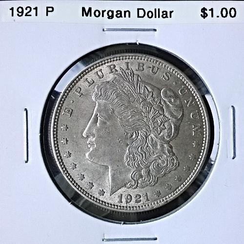 1921 P Morgan Dollar - 6 Photos!
