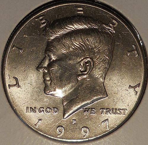 1997-P Kennedy Spike Head Die Crack Error