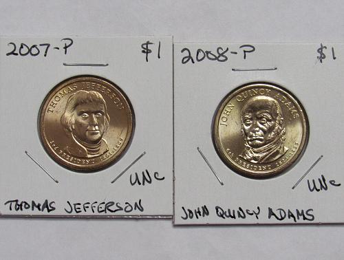 2007 P Thomas Jefferson and 2008 P John Quincy Adams in BU