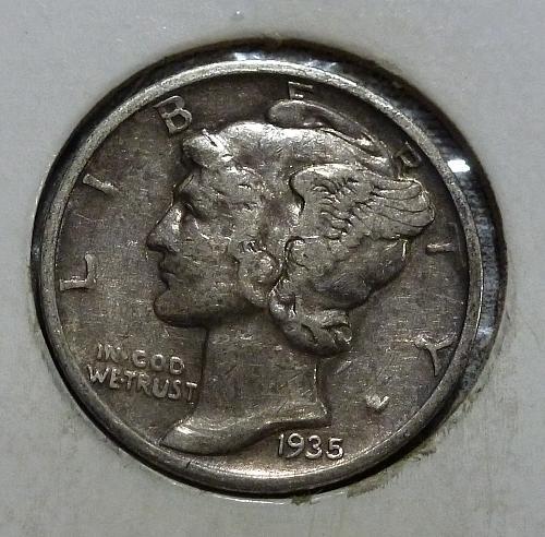1935 P  Mercury Dime  ( I71518)
