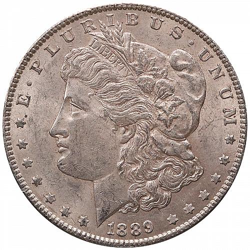 1889 Morgan Silver Dollar. B.U. Condition. Original Patina 0039