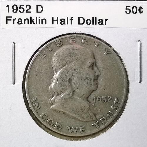 1952 D Franklin Half Dollar - 6 Photos!