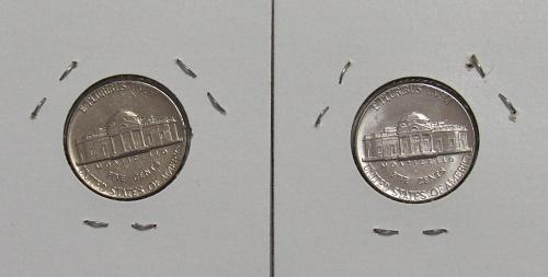 1972 P&D Jefferson Nickels in BU