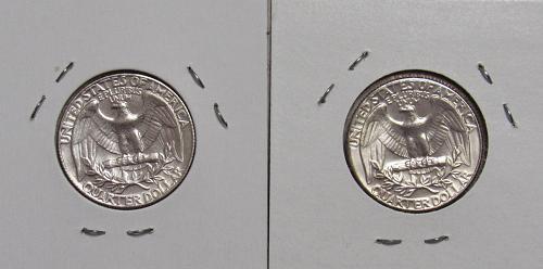 1974 P&D Washington Quarters in BU