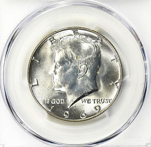 1969 D Kennedy Half Dollar Ms-65+