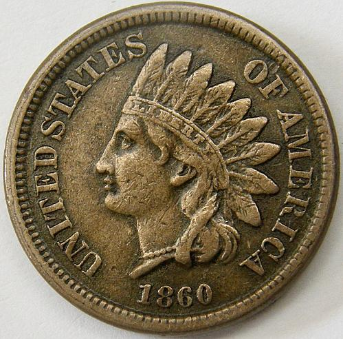 1860 Indian Head Cent #11