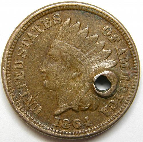 "1864 Indian Head Cent #14 RPD-003 ""4"" Snow 32"