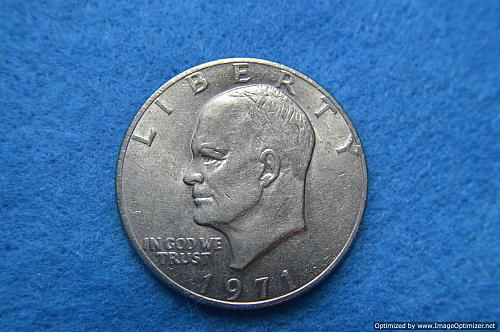 1971 P Eisenhower Dollars