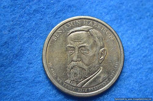 2012 D Presidential Dollars: Benjamin Harrison