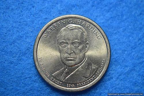 2014 D Presidential Dollars: Warren G. Harding