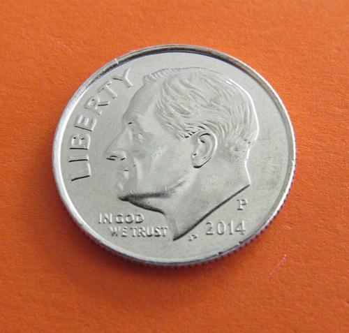 2014-P 10 Cents - Roosevelt Dime