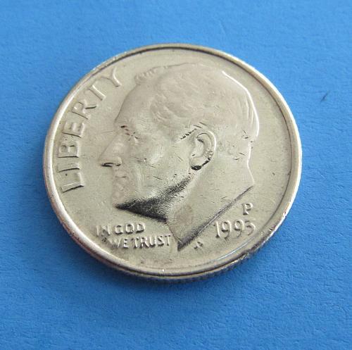 1993-P 25 Cents - Roosevelt Dime