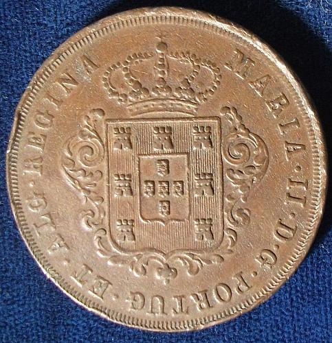 1842 Maderia 20 Reis XF