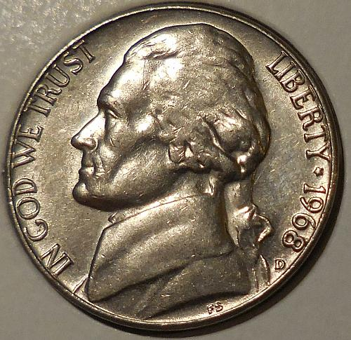 1968-D Jefferson Nickel