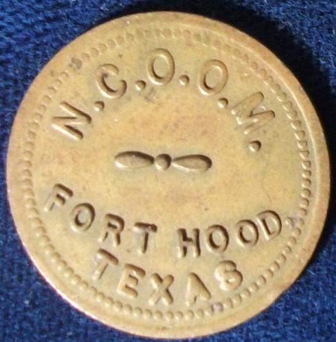 Ft. Hood, Texas, NCO Mess Token 5 Cents