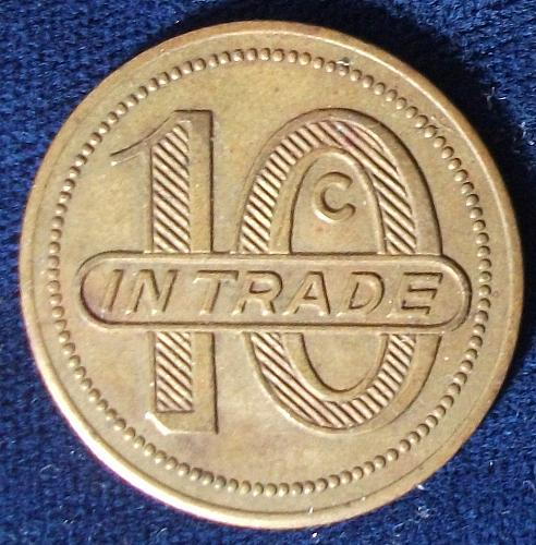 Ft. Hood, Texas, NCO Mess Token 10 Cents