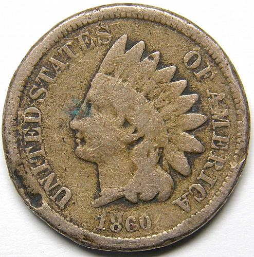 1860 P Indian Head Cent #13