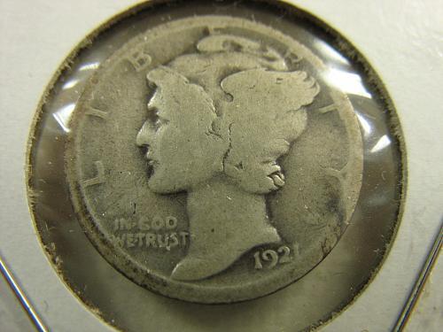 1921 P Mercury Dime G