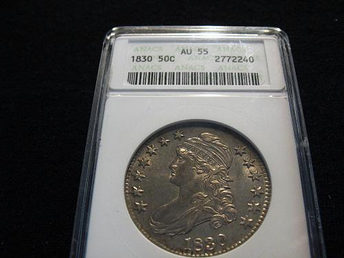 1830 P Capped Bust Half Dollar AU 55 (Large O)