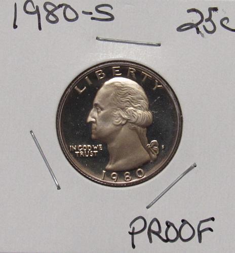 1980 S Proof Washington Quarter