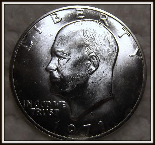 1971-S 1$ Eisenhower 40% Silver Dollar (BU)