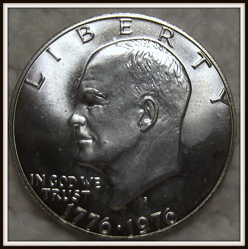 1976-S 1$ Eisenhower 40% Silver Dollar (BU)