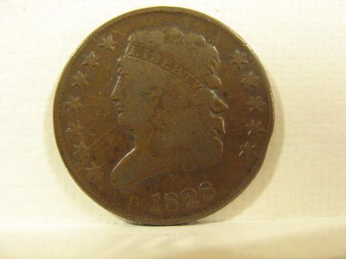 1828 P Classic Head Half Cent (12 Star)