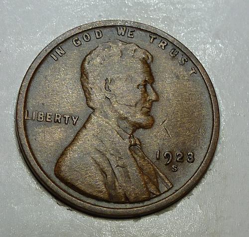 1923-S VF Lincoln Wheat cent in Very Fine ( 72418-I)