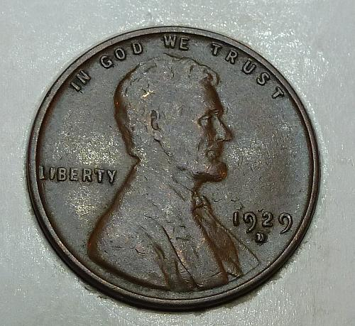 1929-D XF Lincoln Wheat cent in Very Fine ( 72418-J)