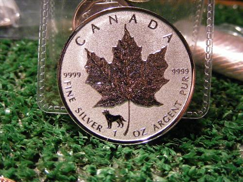 2018 1 oz. Canadien Silver Maple Leaf Lunar Privy (year of the dog) Coin