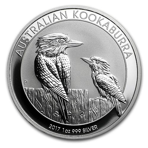 2017 1 oz Silver Australian Kookaburra BU Coin