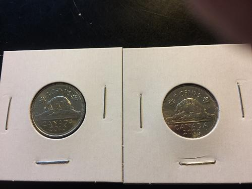 2009 & 2010 CANADIAN NICKELS