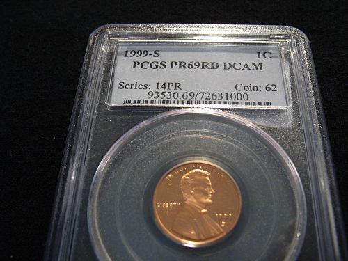 1999 S Lincoln Memorial cent PR 69 RD DCAM (PCGS)